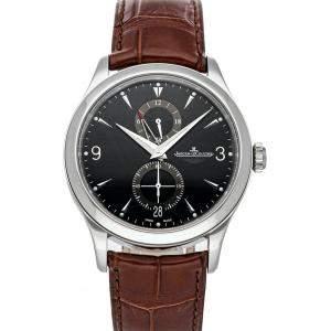Jaeger LeCoultre Black Stainless Steel Master Hometime Aston Martin Q162847N Men's Wristwatch 40 MM