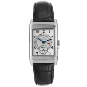 Jaeger LeCoultre Silver Stainless Steel Grande Reverso 270.8.36 Men's Wristwatch 26 x 42 MM
