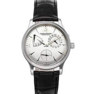 Jaeger LeCoultre Silver Stainless Steel Master Reserve De Marche Q1488404 Men's Wristwatch 37 MM