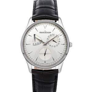 Jaeger LeCoultre Silver Stainless Steel Master Ultra Thin Reserve de Marche Q1378420 Men's Wristwatch 39 MM