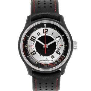 ساعة يد رجالية ياجر لي كولتر أمفوكس 2 DBS أستون مارتين 192.T.25 سوداء 44مم