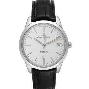 Jaeger Lecoultre Silver Stainless Steel Master 501.8.T0.S Q8018420 Men's Wristwatch 40 MM