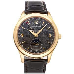 Jaeger LeCoultre Grey 18K Rose Gold Master Calendar Q1552540 Men's Wristwatch 39 MM