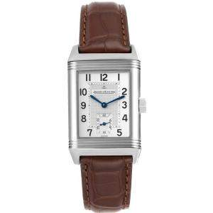 Jaeger LeCoultre Silver Stainless Steel Reverso Grande Taille Q3858520 Men's Wristwatch 26.0 x 42.0MM