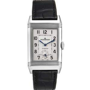 Jaeger LeCoultre Black Stainless Steel Reverso Duo Day Night 215.8.S9 Q3838420 Men's Wristwatch 47 x 28 MM