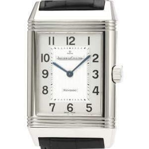Jaeger Lecoultre Silver Stainless Steel Reverso Quartz 270.8.08 Men's Wristwatch 26 MM