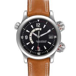 Jaeger Lecoultre Black Stainless Steel Master Compressor Memovox 146.8.97 Q1708470 Men's Wristwatch 41.5 MM