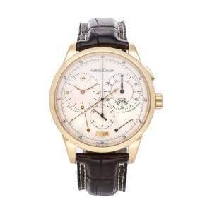 ساعة يد رجالية ياغر لي كولتر دوميتر إي كرونوغراف Q6011420  ذهب وردي عيار 18 فضية إصدار محدود 42 مم