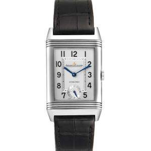 Jaeger LeCoultre Silver Stainless Steel Grande Reverso Automatic 278.8.56 Q3808420 Men's Wristwatch 27 x 46 MM