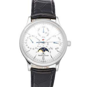 Jaeger LeCoultre Silver Stainless Steel Master Perpetual Q149842A Men's Wristwatch 37 MM
