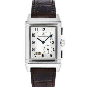 Jaeger LeCoultre Silver Stainless Steel Reverso Grande GMT Q3028420 Men's Wristwatch 29 x 47 MM