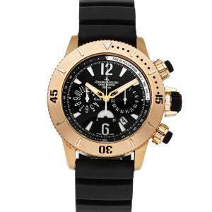 Jaeger LeCoultre Black 18K Rose Gold Master Compressor Diving Chronograph Q1862640 Men's Wristwatch 44 MM