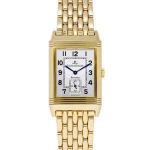 Jaeger LeCoultre Silver 18K Yellow Gold Reverso Grande Taille Q2701120 Men's Wristwatch 26 x 43 MM