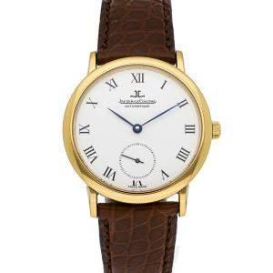 Jaeger LeCoultre White 18K Yellow Gold Vintage Gentilhomme QT155143 Men's Wristwatch 36 MM