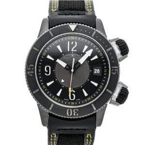 Jaeger LeCoultre Black Titanium Master Compressor Navy Seals Alarm Limited Edition Q183T47J Men's Wristwatch 44 MM