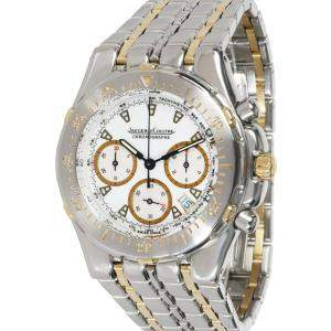 Jaeger LeCoultre White 18K Yellow Gold And Stainless Steel Kryos 305.5.31 Men's Wristwatch 37 MM