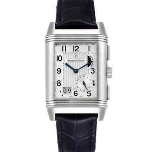 ساعة يد رجالية ياجر لي كولتر رفرسو غراند جي أم تي 240.8.18 كيو3028420 ستانلس ستيل فضي 47.0 و29.0مم