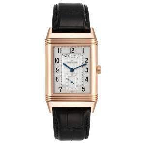 Jaeger LeCoultre Silver 18K Rose Gold Grande Reverso 273.2.85 Q3742521 Men's Wristwatch 48.5 x 29.5 MM