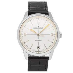 ساعة يد رجالية ياجر لي كولتر جيوفيزيك 1958 إصدار محدود Q8008520 ستانلس ستيل فضية 38 مم
