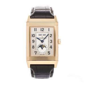 Jaeger LeCoultre Silver 18K Rose Gold Reverso Q3752520 Men's Wristwatch 29 x 49 MM