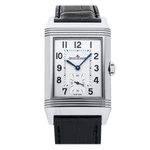 Jaeger LeCoultre Silver Stainless Steel Reverso Classic Q3848420 Men's Wristwatch 47 x 28 MM