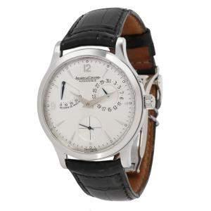 Jaeger LeCoultre Silver Stainless Steel Reserve De Marche 148.8.38.S Men's Wristwatch 37 MM