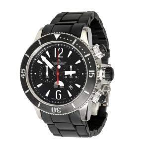 Jaeger LeCoultre Black Titanium Master Compressor Diver Chronograph GMT 159.T.C7 Men's Wristwatch 46 MM