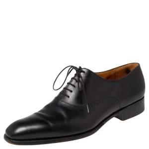 J.M.Weston Black Brogue Leather Lace Derby Size 43