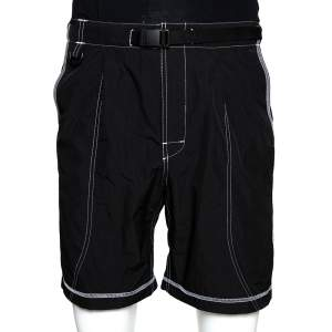 John Elliott Black High Shrunk Nylon Mountain Shorts S