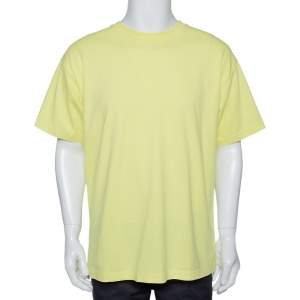 John Elliott Fluorescent Cotton Crew Neck T Shirt M