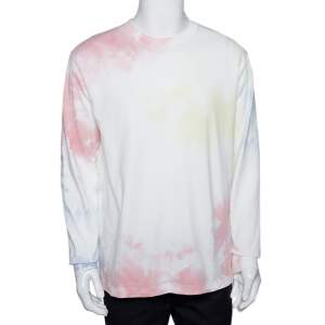John Elliott Ink Bloom Tie Dye Cotton University T-Shirt M