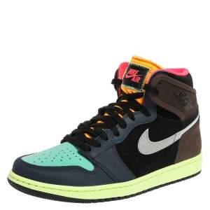Air Jordan Retro High Multicolor Nubuck and Leather Bio Hack High Top Sneakers Size 43