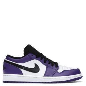 حذاء رياضي نايك جوردان 1 لو كورت بنفسي أبيض مقاس أمريكي 9 مقاس أوروبي 42.5