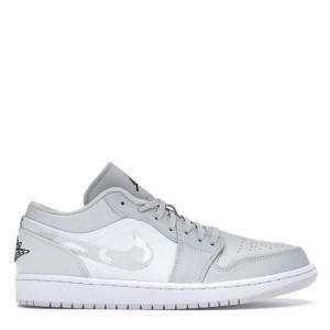 Nike Jordan 1 Low White Camo Sneakers US Size 4.5Y  EU Size 36.5