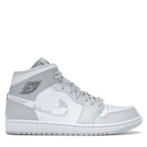 Nike Jordan 1 Mid Grey Camo Sneakers US Size 7.5 EU Size 40.5