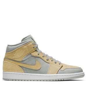 حذاء رياضى نايكى جوردان 1 ميد منقوش أصفر مقاس أمريكى 11.5W مقاس إتحاد أوروبى 45.5