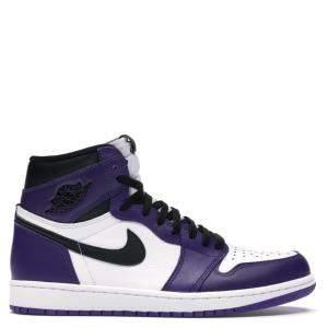 Nike Jordan 1 High Court Purple White Sneakers Size EU 42.5 US 9