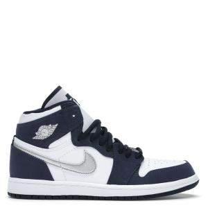 Nike Jordan 1 Retro High Japan Midnight Navy Sneakers Size EU 38 US 5.5Y