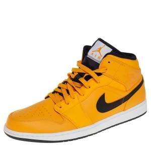 حذاء رياضي آير جوردانز 1 ميد يونيفرسيتي أسود/ ذهبي مقاس 47.5