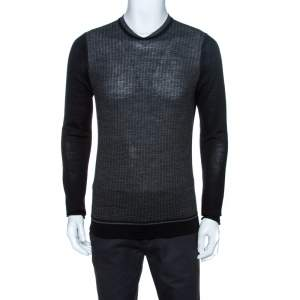 Kenzo Bicolor Knit Crewneck Sweater M