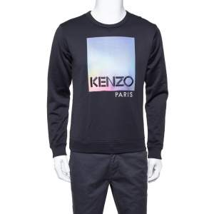 Kenzo Black Knit Northern Light Crewneck Sweatshirt S