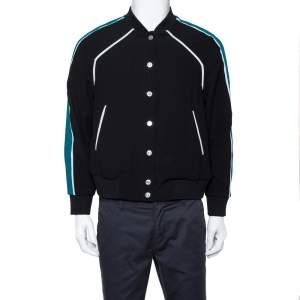 Kenzo Black Crepe Paradise Bomber Jacket L