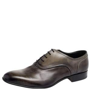 Lanvin Two Tone Leather Lace Up Oxford Size 43