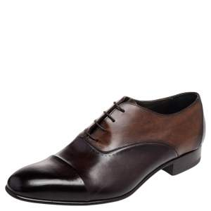 Lanvin Brown Leather Lace Up Oxford Size 43