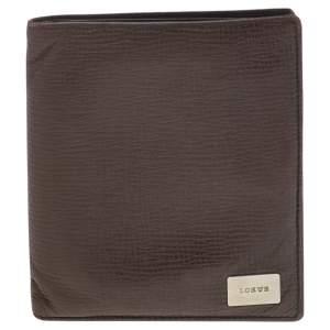 Loewe Brown Leather Bifold Wallet