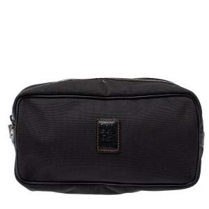 Longchamp Black Canvas Cosmetic Pouch