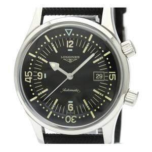 ساعة يد رجالية لونجين ليغند دايفر L3.674.4 ستانلس ستيل سوداء 242مم