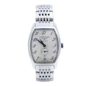 Longines Opaline White Stainless Steel Evidenza L2.642.4 Men's Wristwatch 33 mm