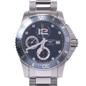 Longines Blue Stainless Steel Hydro Conquest L3.644.4 Men's Wristwatch 41 MM
