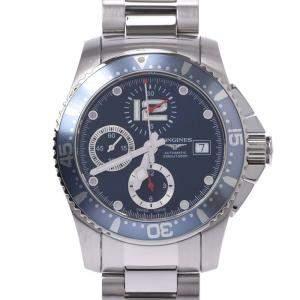 ساعة يد رجالية لونجين هايدرو كونكيست L3.644.4 41 ستانلس ستيل زرقاء 41 مم